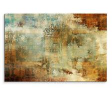 120x80cm Wandbild Acryl Malerei Abstrakt Blau Braun Rot Beige
