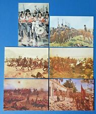 Set of 6 Art Postcards Set No.14 Military Paintings of Richard Caton Woodville
