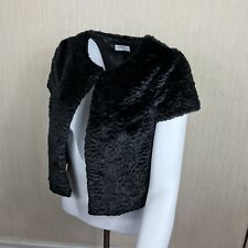 Women's Soon Faux Fur Black Any Occasion Party Wedding Bolero Shrug  Size 10 UK