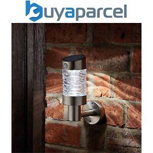 Smart Garden Solar PIR Security Motion Sensor Wave Wall Light Stainless Steel