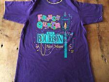 vtg 80s New Orleans Bourbon Street Mardi Gras T-Shirt Large Usa