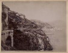Positano à Amalfi Campania Italie Italia Vintage albumine ca 1880