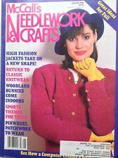 McCall's Needlework & Crafts Magazine Classic Knitwear August 1987 091717nonrh