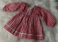 Vtg 72 Aldens Catalog Red Checked Dress Outfit for Ideal Crissy Doll Clothes