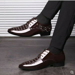 Fashion Men's Pointed Toe Dress Formal Business Shoes Pu Leather Black Shoes Sz