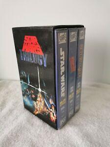 RARE STAR WARS TRILOGY VHS Box Set Original Video Tape CBS 1988 FREE EXPRESS