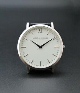 Quality LARSSON & JENNINGS Large 40mm 'Lugano' Steel Wristwatch – VGC & GWO