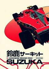 Ferrari F1 Japanese Grand Prix Suzuka High-Quality 22inx17in Art Poster