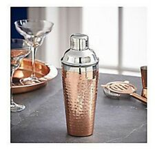 Fox & Ivy Gold Hammered Cocktail Shaker (Silver / Gold)