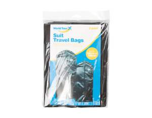 2 x SUIT COVER Bags Mens Garment Breathable Travel ZIPPED Covers Bag