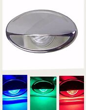 Marine RV Boat LED Down Courtesy VersiColor RED, GREEN & BLUE Light Stainless