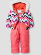 Girls Infant Coat Size Size 12 Mo 2 Piece Snow Suit Winter Hood Zig Zag Chevron