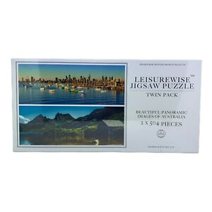 Brand New & Sealed Leisurewise Jigsaw Puzzle Twin Pack - 2 x 504 AUS Pieces