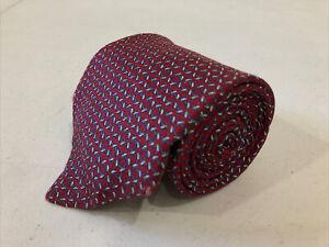 Brooks Brothers Men's Red Novelty Geometric Belts Silk Tie $98