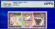 Bahrain 1/2 Dinar L.1973 SCWPM # 7 Monetary Authority Very-Choice-New # HB906630