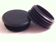 2 Black Plastic Blanking End Caps Cap Round Tube Pipe Plug Bung Inserts 70mm
