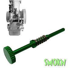 KAWASAKI KX 125 Mikuni Tmx Fácil de Ajustar Carburador Idle Tornillo Anodizado Verde