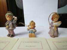 Set of 3 Berta Hummel 1999 Goebel Christmas Ornaments