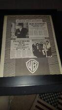 Fleetwood Mac/Rod Stewart Rare Original Radio Promo Poster Ad Framed!