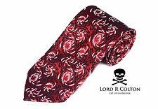Lord R Colton Masterworks Tie Red Black Pearl Star Collision XL Silk Necktie New