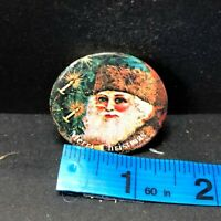 Merry Christmas Vintage Button Pin