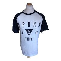 Official Tottenham Hotspur Spurs football shirt large white navy