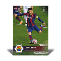 Topps Now UCL 2020-21 - Card 001 - Lionel Messi Barcelona - Scored in 16 Season
