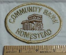 Community Bank of Florida Homestead Embroidered Patch Badge