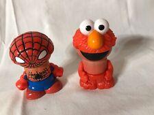 "Sesame Street Wooden Elmo Spider man Wood Body Figures 3"" Play Town"