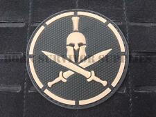 SPARTAN WARRIOR TACTICAL SPARTA VELCRO PVC PATCH Helmet & Crossed Swords Morale