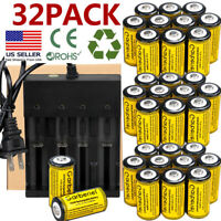 Rechargeable CR123A Batteries 3.7V Li-Ion for Netgear Arlo Security Camera lot