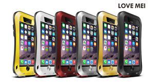 LOVE MEI Shockproof, Dustproof Heavy Duty Metal Case for Apple iPhone 6 & 6+