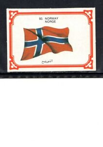 EARLY NORWAY FLAG CIGARETTE CARD, NATIONAL FLAG