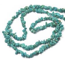 "Turquoise Freeform Nugget Chips Gemstone Beads Strand 34"" Jewelry Making"