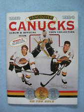 1993/94 VANCOUVER CANUCKS HOCKEY COIN COLLECTION SERIES II ALBUM SET PAVEL BURE
