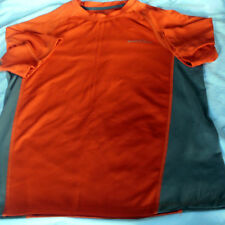 EDDIE BAUER SPORT~Orange & Gray ACTIVE FIT SHIRT~SS~Sz Small~Running~Fitness