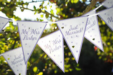 5M PERSONALISED WEDDING BANNER GARLAND JUST MARRIED BUNTING MR & MRS BANNER