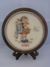 Goebel Hummel School Girl (1980) Annual Plate Bas Relief Framed w/ Box