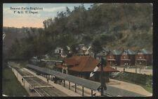 Postcard BEAVER FALLS-BRIGHTON Pennsylvania/PA  P & LE Railroad Sta/Depot 1907