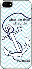 iPhone 5 Plain Faith Anchor Psalm 56:3 Designed Sticker on Hard Case Cover