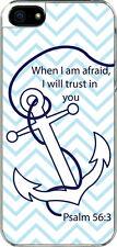 iPhone 5 Plain Faith Anchor Psalm 56:3 Designed Sticker on Hard Case Cover
