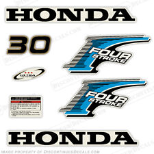 New Style! Honda 30hp 4-Stroke Outboard Decal Kit - Reproduction Decals in Stock