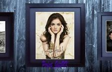 Lucy Hale Pretty Little Liars SIGNED & FRAMED 10x8 REPRO PHOTO PRINT