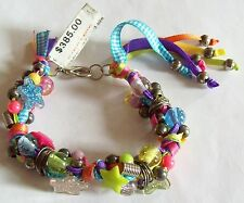Karmen Nava Colorful Wired Bracelet Original Tag $385