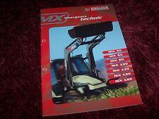 Catalogue  / Brochure MAILLEUX Chargeurs Technic MX 199? //