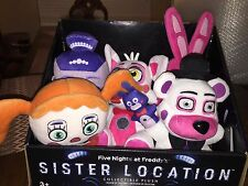 NWT FIVE NIGHTS AT FREDDY'S SISTER LOCATION PLUSH & DISPLAY BOX BONNET FREDDY
