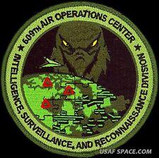 USAF 609th AIR OPERATIONS CENTER-INTELLIGENCE-SURVEILLANCE- RECONNAISSANCE PATCH