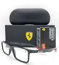 NEW Rayban Ferrari Rx Eyeglasses Frame RX8901M F632 55mm Flat Black AUTHENTIC
