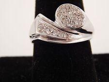 ART DECO Old Mine Cushion Cut Diamond Ring .75 tcw G/VS 14k Cluster Handmade
