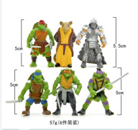 6pcs/Bag Lovely Mini Turtles Actions Figure Cartoon Tartaruga Ninja Toys 5 cm